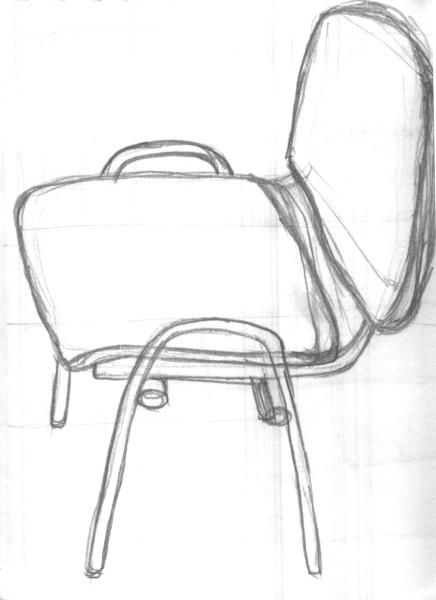 the drawing of a chair