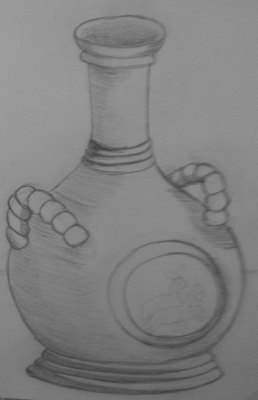 the drawing of a pitcher