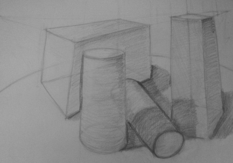 drawing of pile of stuff