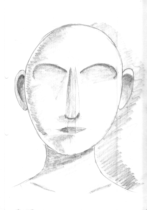 drawing of a empty face