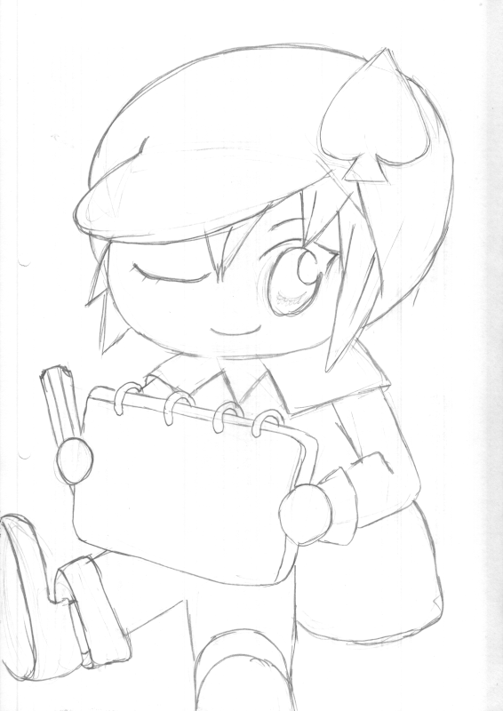 drawing of Miki from Shugo Chara