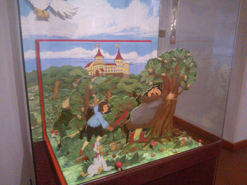 Fairytale scene made out of chocolate