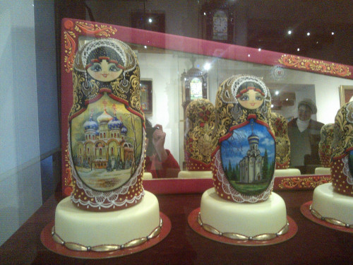 Russian dolls made out of chocolate